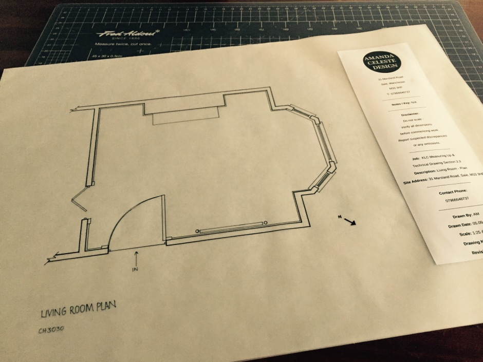Technical Drawing Living Room Plan Project 2
